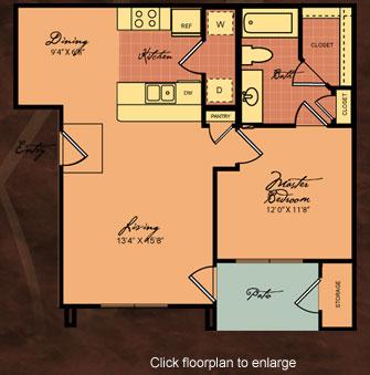 700 sq. ft. 60-BUENA VISTA floor plan