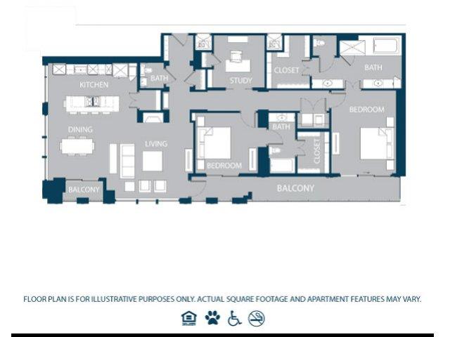 1,986 sq. ft. PH3 floor plan