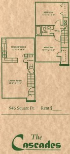 946 sq. ft. floor plan