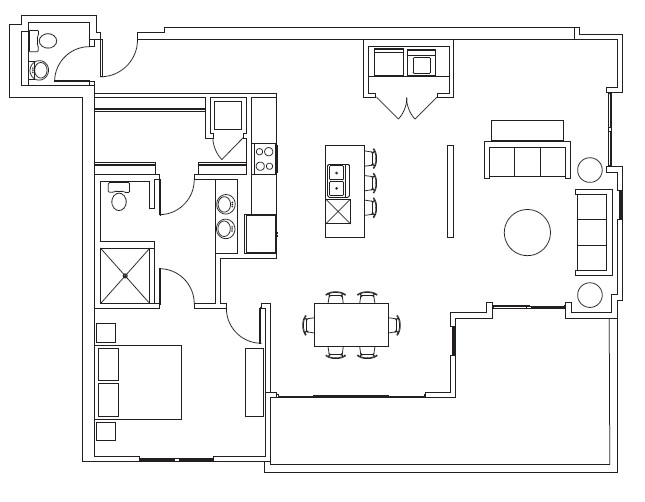 1,298 sq. ft. Amon floor plan