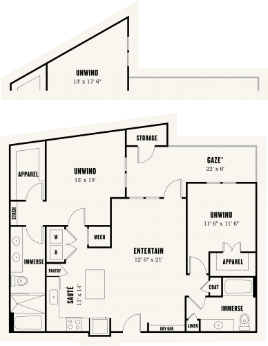 1,226 sq. ft. B3A floor plan