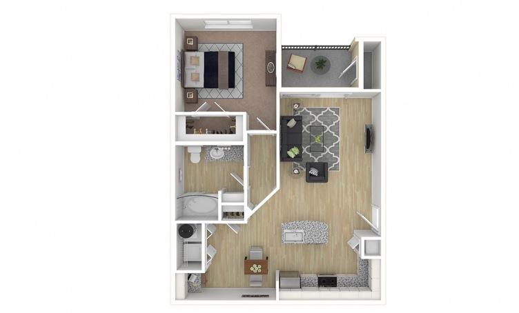 775 sq. ft. A3.1 floor plan