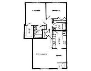 700 sq. ft. floor plan