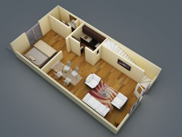 1,217 sq. ft. floor plan