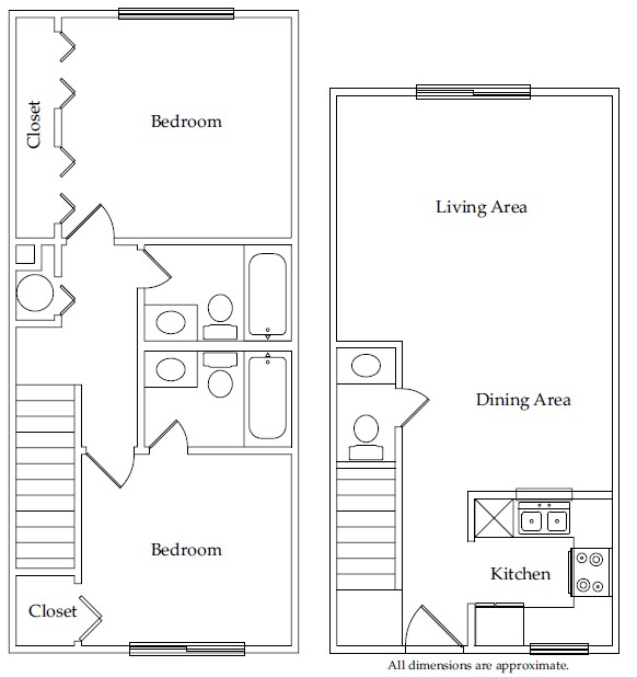 921 sq. ft. B3 floor plan