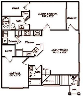 1,149 sq. ft. floor plan