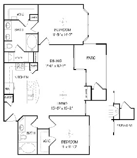1,073 sq. ft. B1/MIRABELLA floor plan