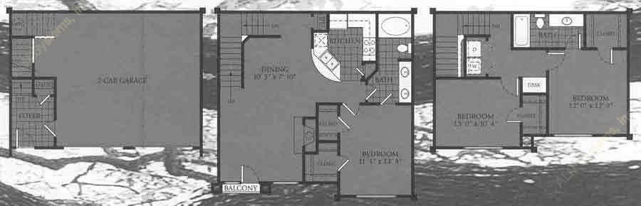 1,414 sq. ft. Charleston floor plan
