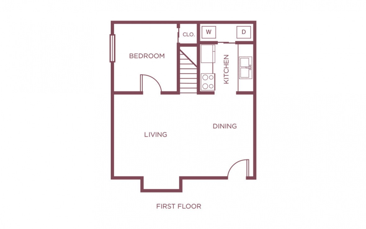 1,142 sq. ft. G floor plan