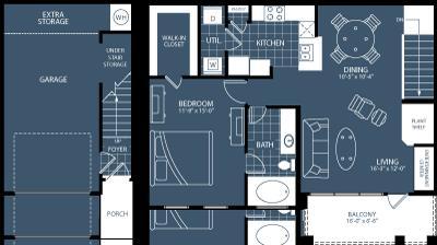 903 sq. ft. A6 floor plan
