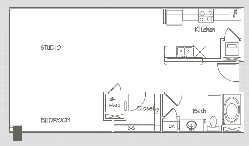 757 sq. ft. S5 floor plan