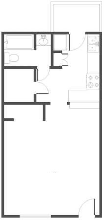 516 sq. ft. floor plan