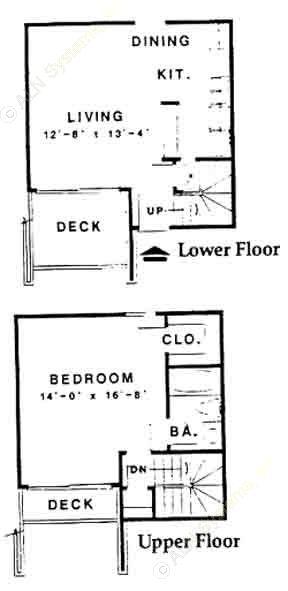 760 sq. ft. S floor plan