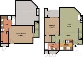 1,167 sq. ft. B2 floor plan