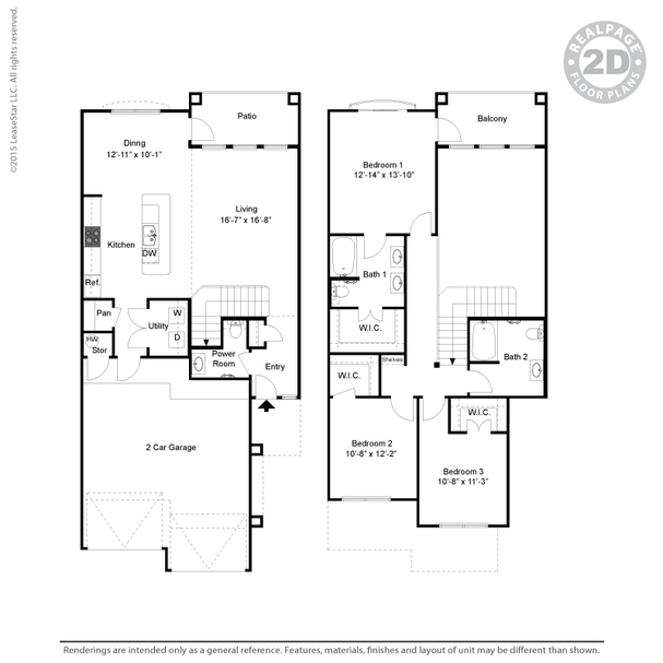 1,700 sq. ft. C2 floor plan
