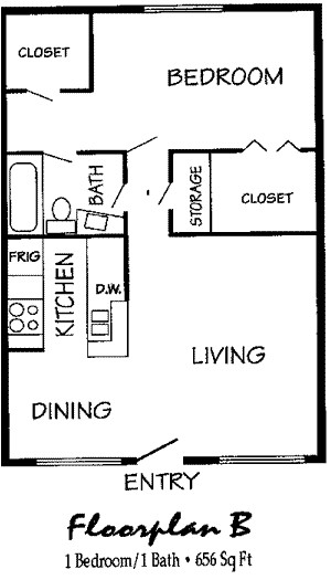 656 sq. ft. floor plan