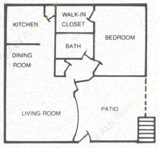 670 sq. ft. 60 floor plan