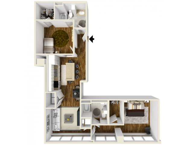 1,327 sq. ft. Meyerson floor plan