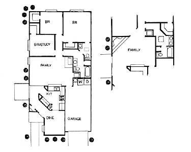 1,221 sq. ft. to 1,288 sq. ft. ORIG PATIO floor plan