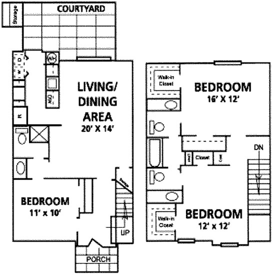 1,460 sq. ft. Riviera floor plan