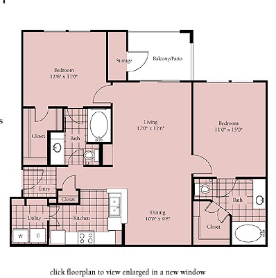 1,031 sq. ft. Brasilia floor plan