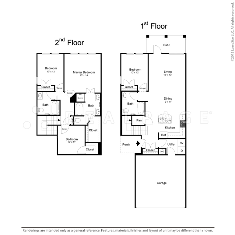1,763 sq. ft. TH4 floor plan
