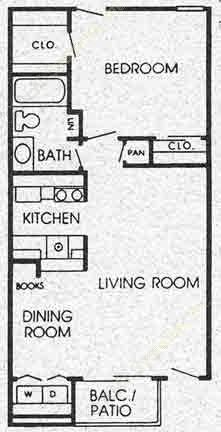 650 sq. ft. D floor plan