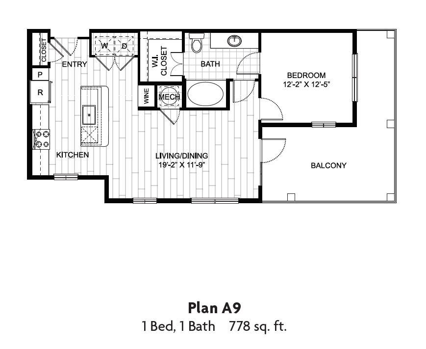 778 sq. ft. floor plan