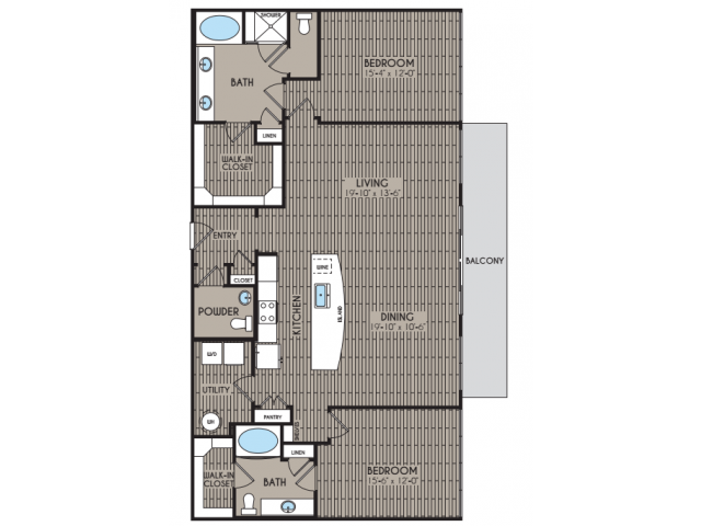 1,679 sq. ft. Rushmore floor plan