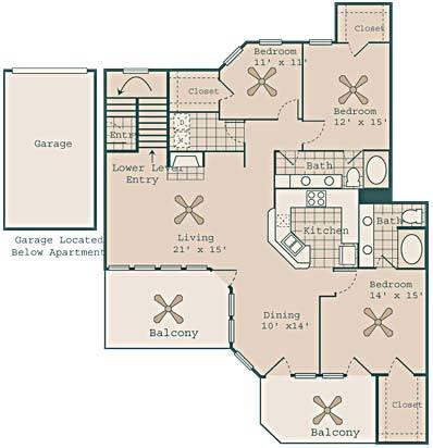 1,658 sq. ft. Capone floor plan