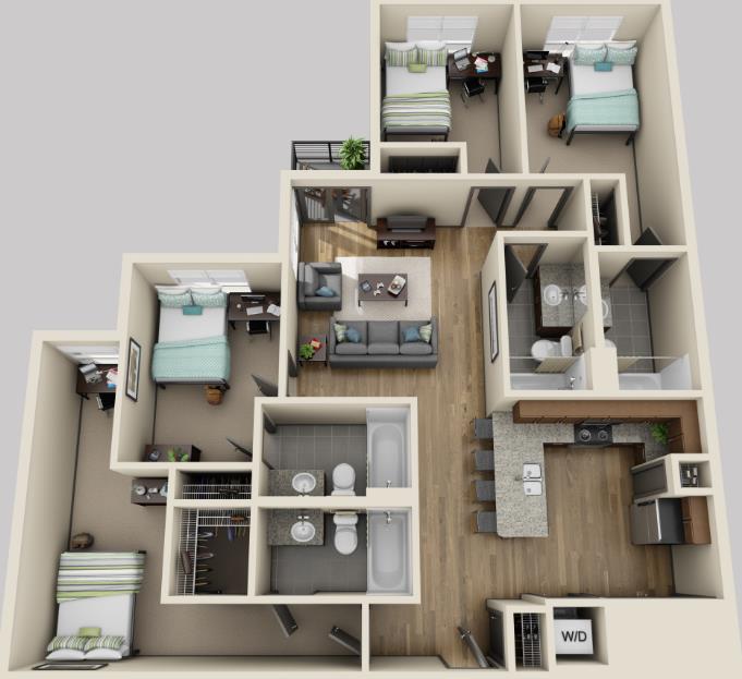 1,415 sq. ft. floor plan