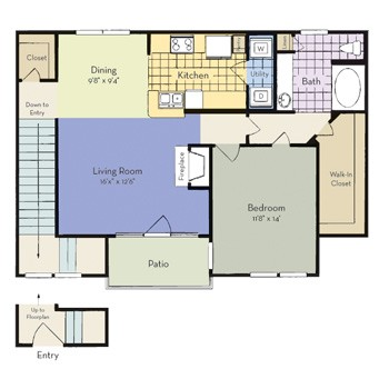 969 sq. ft. Weston floor plan