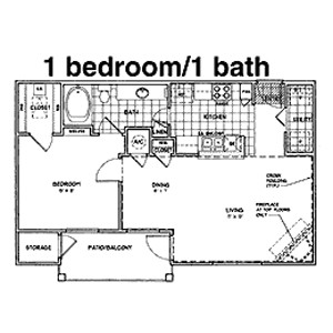868 sq. ft. B floor plan