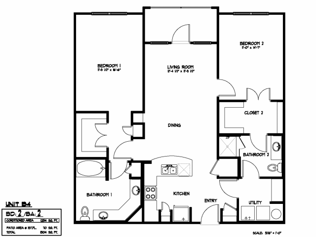 1,066 sq. ft. B3 ALT floor plan