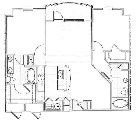 1,102 sq. ft. Cannes floor plan