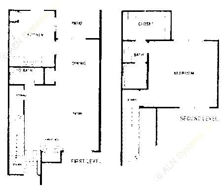 1,103 sq. ft. B1 ABP floor plan