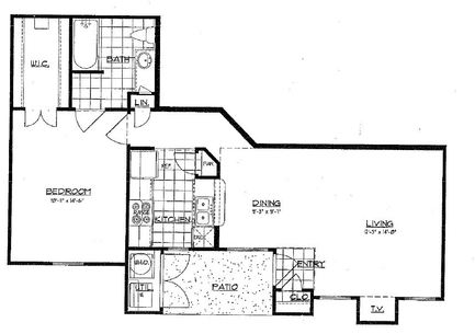 731 sq. ft. A4 floor plan