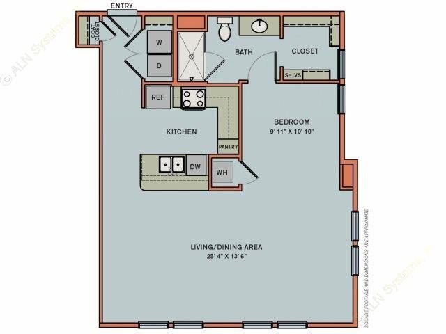 823 sq. ft. 3S7 floor plan