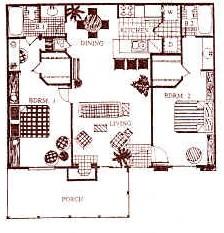 950 sq. ft. B3 floor plan