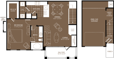 903 sq. ft. Madrid floor plan