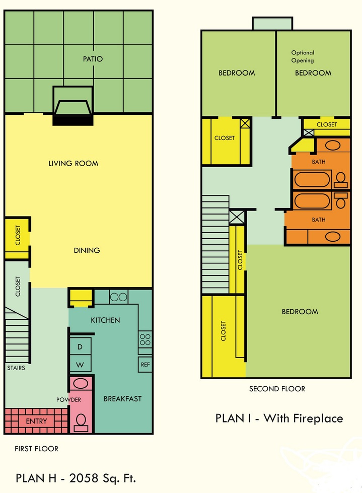 2,058 sq. ft. floor plan