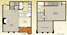 793 sq. ft. Vickery floor plan