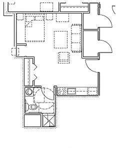 750 sq. ft. Mkt floor plan
