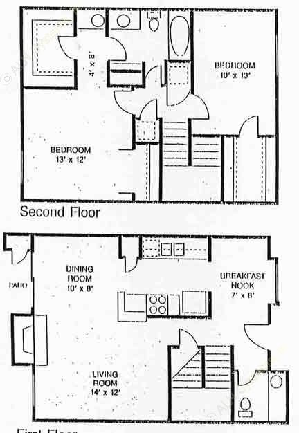1,172 sq. ft. Hanover floor plan