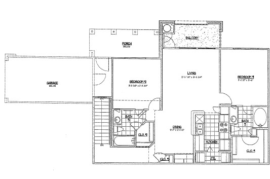 980 sq. ft. E3/60% floor plan