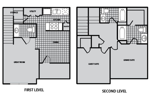 1,027 sq. ft. B1 60% floor plan