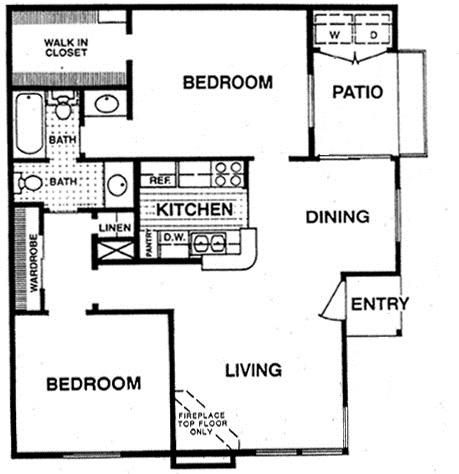 830 sq. ft. D1 floor plan