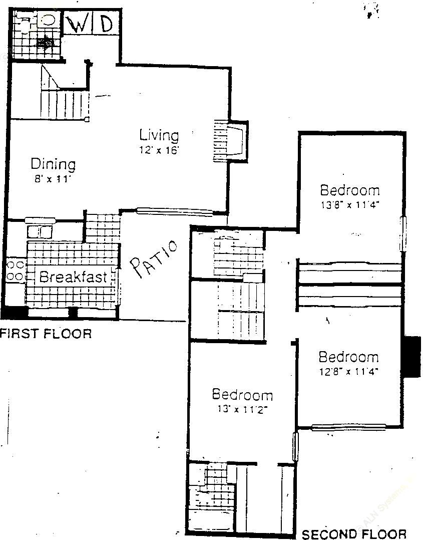 1,397 sq. ft. C1-S floor plan