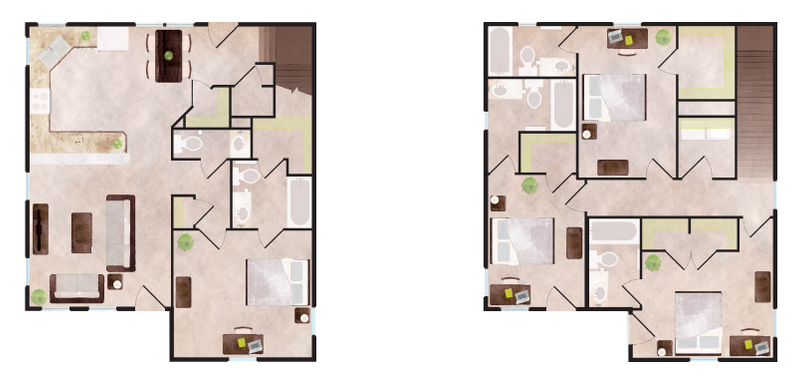 2,220 sq. ft. Breckenridge floor plan