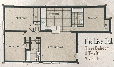 912 sq. ft. C1-310/60% floor plan